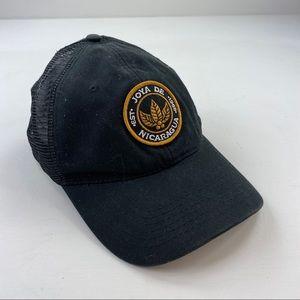 Joya de Nicaragua Cigar Snapback Mesh Black Hat